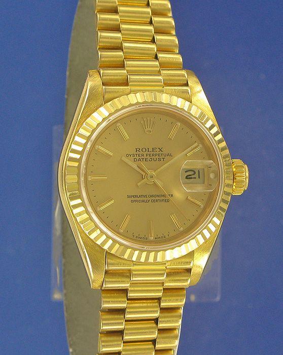 rolex dames horloge goud