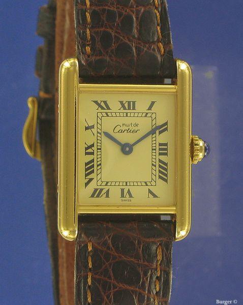 Must de Cartier Tank Vermeil - Cartier - Verkochte horloges - Juwelier  Burger