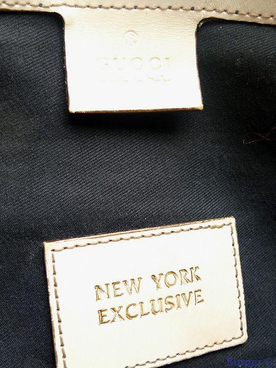 fe5bd016d White GG Coated Canvas Gucci Loves NY Medium Boston Bag LTD - Gucci ...