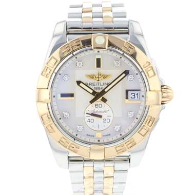 Breitling - Galactic 36 Automatic Rose Gold/Steel MOP Diamond Dial