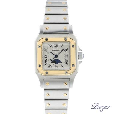 Cartier - Santos Galbee Date Moon Steel/Gold Lady