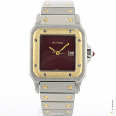 Cartier - Santos GM Steel / Gold  Automatic Red Dial