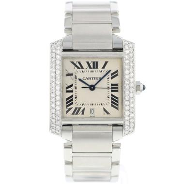 Cartier - Tank Francaise GM Automatic Diamonds