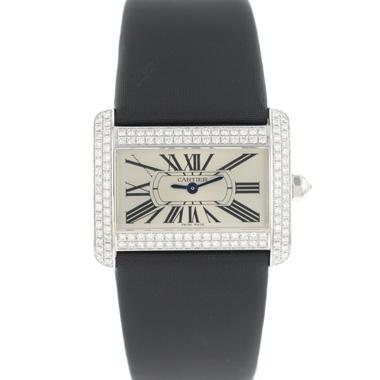 Cartier - Tank Divan PM White Gold Diamonds