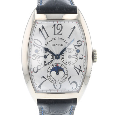 Franck Muller - Cintree Curvex Master Banker Three Time Zones White Gold