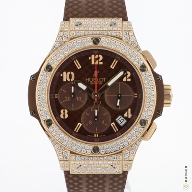 Hublot - Big Bang Cappuccino Rose Gold Diamonds Like NEW!