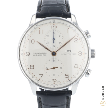 IWC - Portugieser Chrono-Automatic Stainless Steel / Gold Numerals