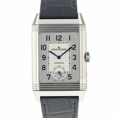 Jaeger LeCoultre - Reverso Classic Large Home Time Duoface Steel Automatique NEW!