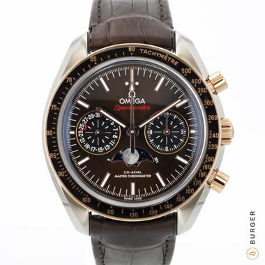 Omega - Speedmaster Moonwatch Sedna Gold Steel Brown Dial NEW!
