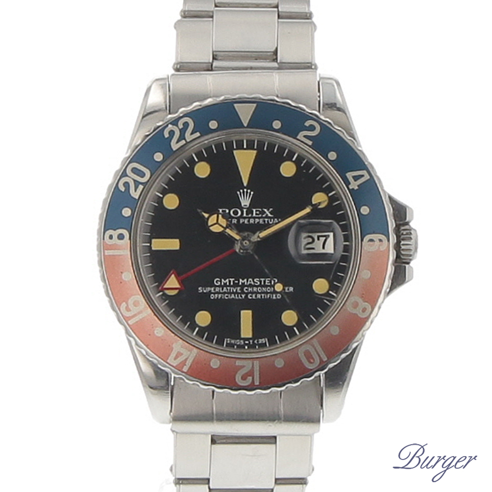 Gmt,Master Pepsi 1675 All Red GMT Hand Vintage