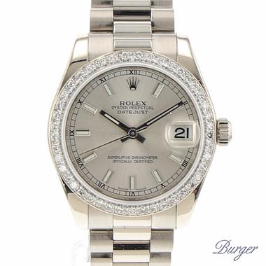 Rolex - Datejust 31 Midsize White Gold President Diamonds