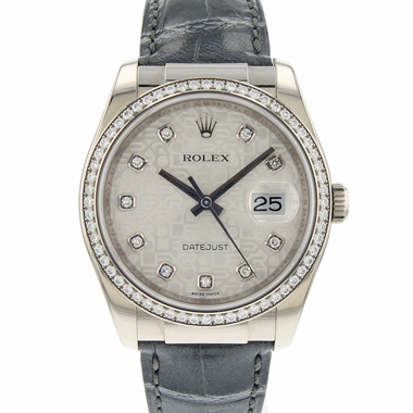 Rolex - Datejust 36 White Gold Diamond Logo Dial
