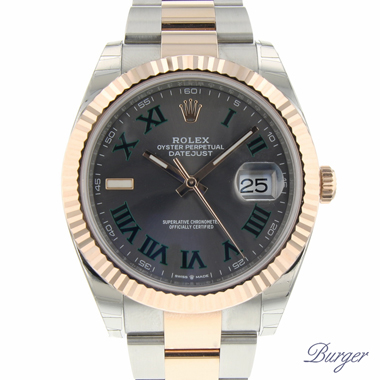 Rolex - Datejust 41 Steel Everose Gold Fluted Oyster NEW!