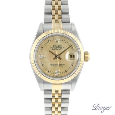 Rolex - Datejust 26 Gold/Steel Jubilee MOP Marquise cut-Diamonds