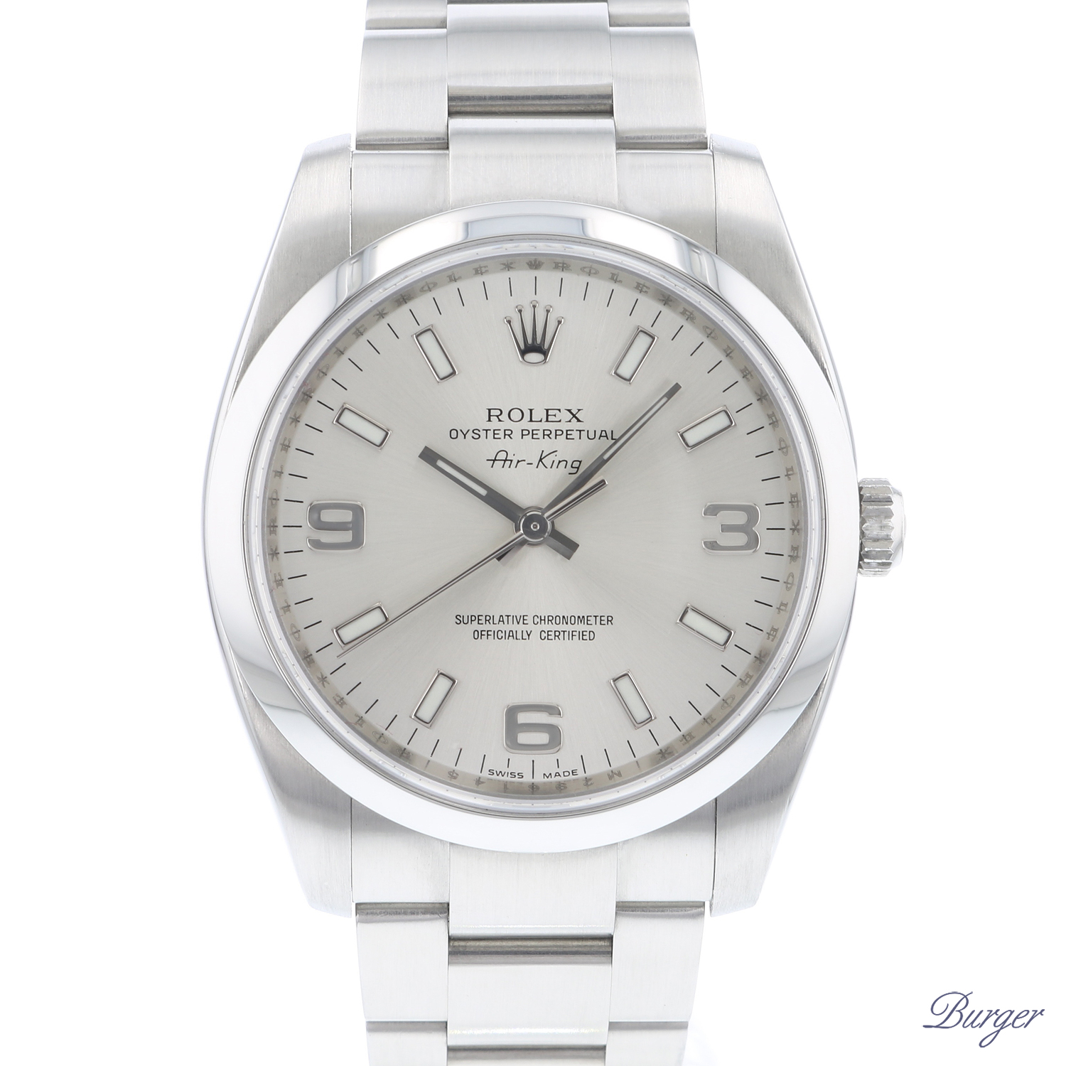 Oyster Perpetual Air King 34 Silver