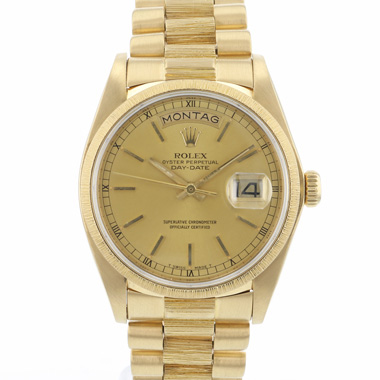Rolex - Day-Date 36 President Bark Yellow Gold
