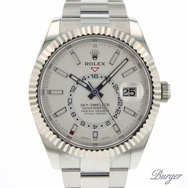 Rolex - Sky-Dweller Stainless Steel / White Gold / White NEW