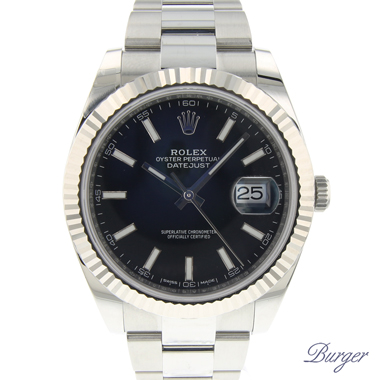 Rolex - Datejust 41 Steel Fluted Oyster Black