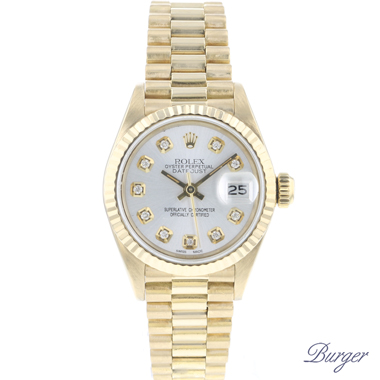Rolex - Datejust Lady 26 Yellow Gold President Diamonds