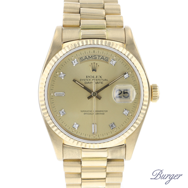 Rolex - Day-Date 36 President Yellow Gold Diamonds