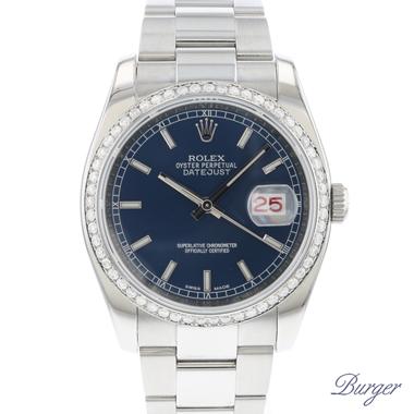 Rolex - Datejust 36 Blue Dial / Diamond Bezel