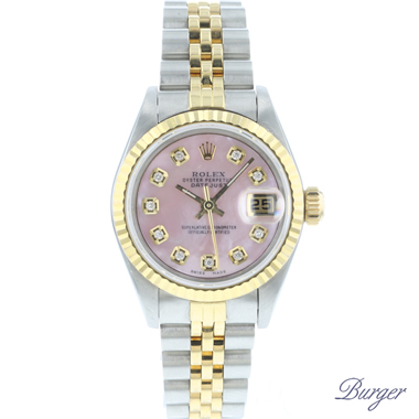 Rolex - Datejust 26 Gold/Steel Jubilee MOP Diamond Dial