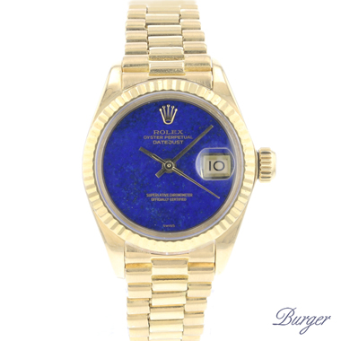 Rolex - Datejust Lady 26 Yellow Gold President Lapis Lazuli Dial