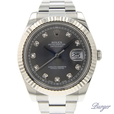 Rolex - Datejust II Fluted Rhodium Diamonds