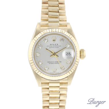 Rolex - Datejust Lady 26 Yellow Gold President Diamonds