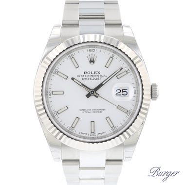 Rolex - Datejust 41 Fluted Oyster White Dial NEW SEALED!