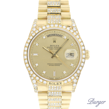 Rolex - Day-Date 36 Yellow Gold Diamonds