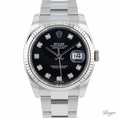 Rolex - Datejust 36 Fluted Diamond Dial BRAND NEW!