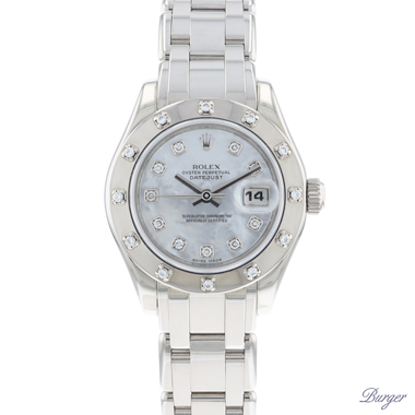 Rolex - Datejust Pearlmaster White Gold MOP Diamonds Dial