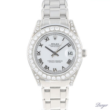 Rolex - Datejust Pearlmaster 34 White Gold Diamond White Roman
