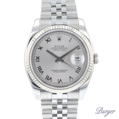 Rolex - Datejust 36 Fluted Jubilee Silver