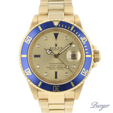 Rolex - Submariner Date Yellow Gold Serti Dial