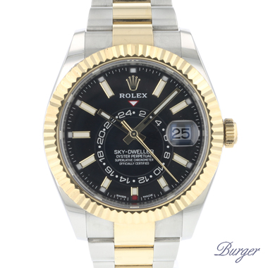 Rolex - Sky-Dweller Steel/Gold Black Dial