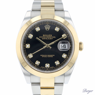 Rolex - Datejust 41 Gold/Steel Diamond Dial