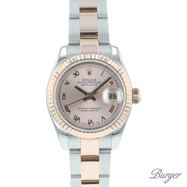Rolex - Datejust Lady 26 Steel Everose Gold Fluted
