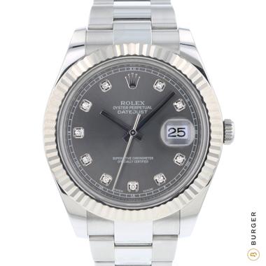 Rolex - Datejust II Fluted Rhodium Diamonds