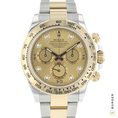 Rolex - Daytona Steel / Gold  Champagne Diamond Dial