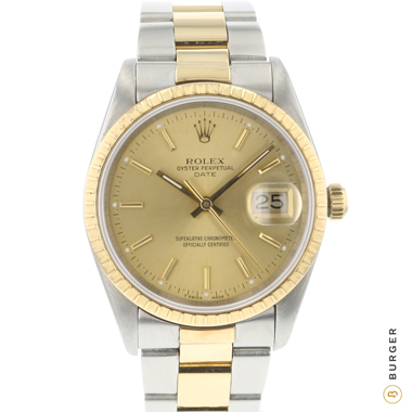 Rolex - Oyster Perpetual Date 34 Gold/Steel