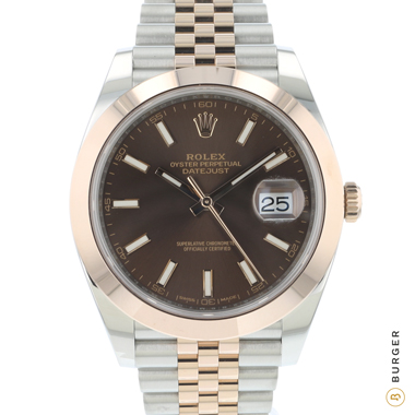 Rolex - Datejust 41 Steel / Everose Gold Jubilee Choco Dial