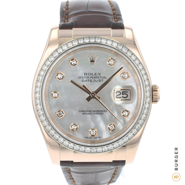 Rolex - Datejust 36 Rose Gold MOP Diamonds