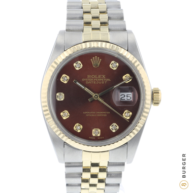 Rolex - Datejust 36 Steel/Gold Jubilee Diamonds