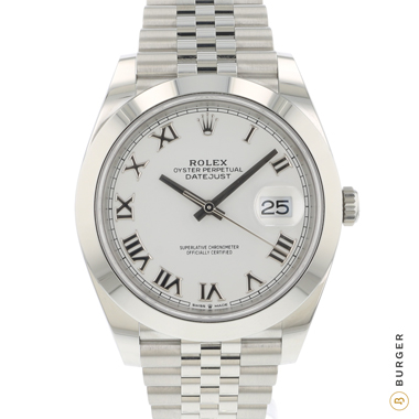 Rolex - Datejust 41 Jubilee White Roman Dial NEW!