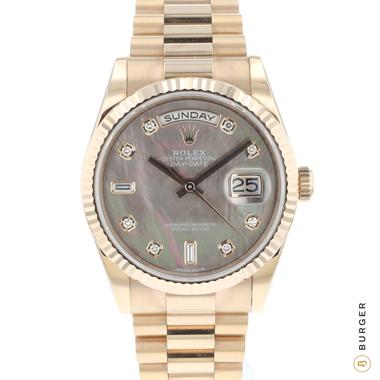 Rolex - Day-Date 36 Everose MOP Diamond Dial NEW!