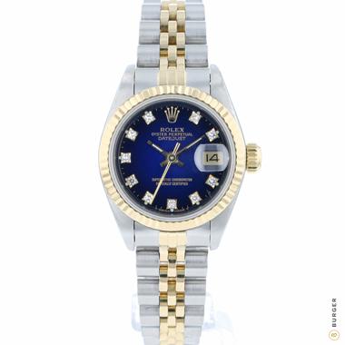 Rolex - Datejust 26 Gold/Steel Diamond Vignette Dial Fluted
