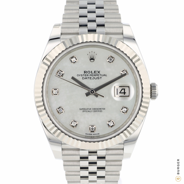 Rolex - Datejust 41 Fluted Jubilee MOP Dial NEW!