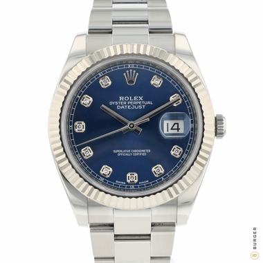 Rolex - Datejust 41 Fluted Blue Diamond Dial